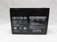12 volt 10 a/h SLA battery 12100PC