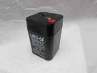 6 volt 5 amp/hour rechargable battery F terminal