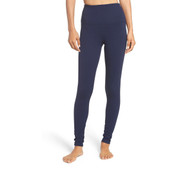 Women's Plain Navy Blue Solid Color Cotton Material Leggings