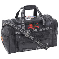 Wholesale lot of (10) Diamond Plate Rock Design Genuine Leather LIVE TO RIDE Tote Bag