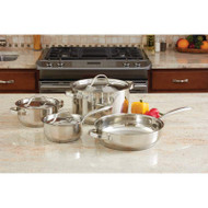 Wholesale lot of (2) Ever Clad 7pc Heavy Duty Stainless Steel Cookware Set