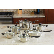 Wholesale lot of (2) Wyndham House by Justin Wilson 12pc Stainless Steel Cookware Set