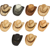 Wholesale lot of (2) Casual Outfitters 10pc Cowboy Hat Set