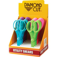Wholesale lot of (4) Diamond Cut 12pc Utility Shears in Countertop Display