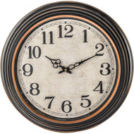 """Wholesale lot of (6) 20"""" ANTIQUE BLACK ROUND WALL CLOCK"""
