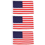 Wholesale lot of (150) Diamond Plate 3pc Motorcycle Replacement USA Flags