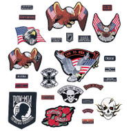 Wholesale lot of (36) Live To Ride 26pc Embroidered Motorcycle Patch Set