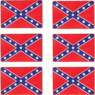 Wholesale lot of (50) Be A Rebel 6pc Rebel Flag Patches