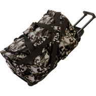 """Wholesale lot of (6) Extreme Pak Red-Eye Skull Camo Water-Resistant 21"""" Trolley Bag"""