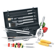 Wholesale lot of (6) Chefmaster 19pc All Stainless Steel Barbeque Tool Set