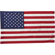 "4' x 30"" United States Flag and 2pc Wood Pole Kit"