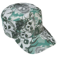 Wholesale lot of (25) Casual Outfitters Grey Skull Camo Design Cap
