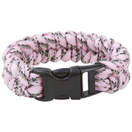"Wholesale lot of (12) Maxam 8"" Pink Camo Paracord Bracelet"