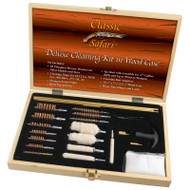 Wholesale lot of (5) Classic Safari Deluxe Cleaning Kit in Wood Case