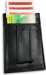 Genuine Leather Clip Wallet Fancy