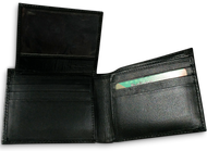 Fancy Bi-Fold Genuine Leather Wallet for 7 cards