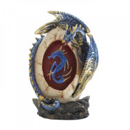 Blue Dragon Egg Statue