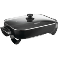 """Brentwood Electric Skillet With Glass Lid (1400w; 16"""")"""