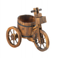 Country Wooden Tricycle Planter