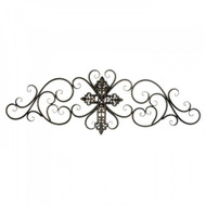Cross Scrollwork Wall Plaque