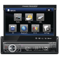 """Power Acoustik 7"""" Single-din In-dash Motorized Touchscreen Lcd Dvd Receiver With Detachable Face (with Bluetooth)"""