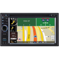 """Planet Audio 6.2"""" Double-din In-dash Navigation Touchscreen Dvd Receiver With Bluetooth"""