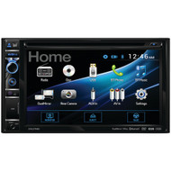 """Dual 6.2"""" Double-din In-dash Dvd Receiver With Bluetooth & Hdmi Input"""