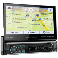 """Power Acoustik 7"""" Incite Single-din In-dash Gps Navigation Motorized Lcd Touchscreen Dvd Receiver With Detachable Face & Bluetooth"""