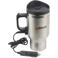 Wagan Tech 12-volt Deluxe Double-wall Stainless Steel Heated Travel Mug