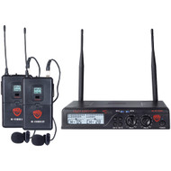 Nady Uhf Dual 100-channel Wireless Lavalier Handheld Microphone System