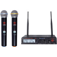 Nady Dual Uhf Wireless Handheld Microphone System