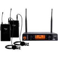 Nady Dual-transmitter Digital Wireless Microphone System (2 Digital Lt Lm-14 And O Lapel Microphones)