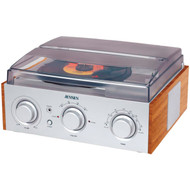 Jensen 3-speed Stereo Turntable With Am And Fm Receiver & 2 Built-in Speakers