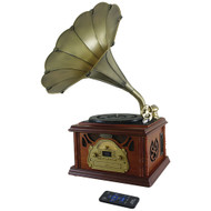 Pyle Retro-style Bluetooth Turntable Phonograph Record Player