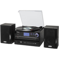 Jensen 3-speed Stereo Turntable Cd Recording System With Cassette Player Am And Fm Stereo Radio & Mp3 Encoding