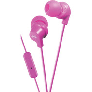 Jvc In-ear Headphones With Microphone (pink)