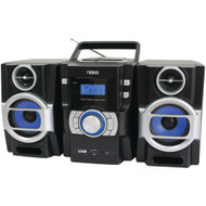 Naxa Portable Cd And Mp3 Player With Pll Fm Radio Detachable Speakers & Remote