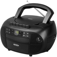 Jensen Portable Stereo Cassette Recorder & Cd Player With Am And Fm Radio