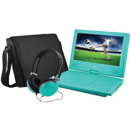 "Ematic 9"" Portable Dvd Player Bundles (teal)"
