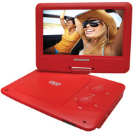 "Sylvania 9"" Portable Dvd Players With 5-hour Battery (red)"