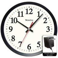 """Westclox 14"""" Round Electric Powered Office Wall Clock"""