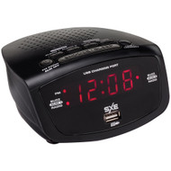 Sxe Led Clock Radio With 1-amp Usb