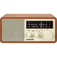 Sangean Am And Fm Bluetooth Wooden Cabinet Radio