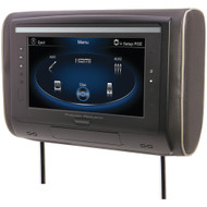 """Power Acoustik 9"""" Lcd Universal Headrest With Ir & Fm Transmitters & 3 Interchangeable Skins (dvd Player)"""