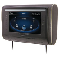 """Power Acoustik 9"""" Lcd Universal Headrest With Ir & Fm Transmitters & 3 Interchangeable Skins (monitor Only)"""
