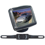 """Pyle Pro 3.5"""" Slim Tft Lcd Universal Mount Monitor System With License Plate Mount & Backup Camera"""