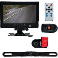 Pyle Monitor System With 2 Interior Dvr Dash Cams & License-plate Camera