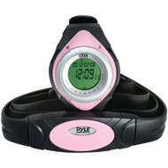 Pyle Pro Heart Rate Monitor Watch With Minimum Average & Maximum Heart Rate (pink)