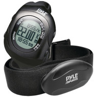 Pyle-sports Bluetooth Fitness Heart Rate Monitoring Watch With Wireless Data Transmission And Sensor (black)