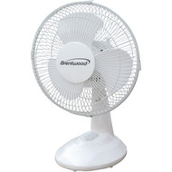 "Brentwood Koolzone 9"" Oscillating Desk Fan"